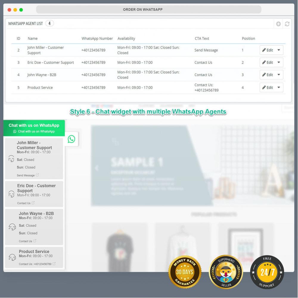 module - Wsparcie & Czat online - Integracja WhatsApp PRO - zamówienie, czat, agenci - 17