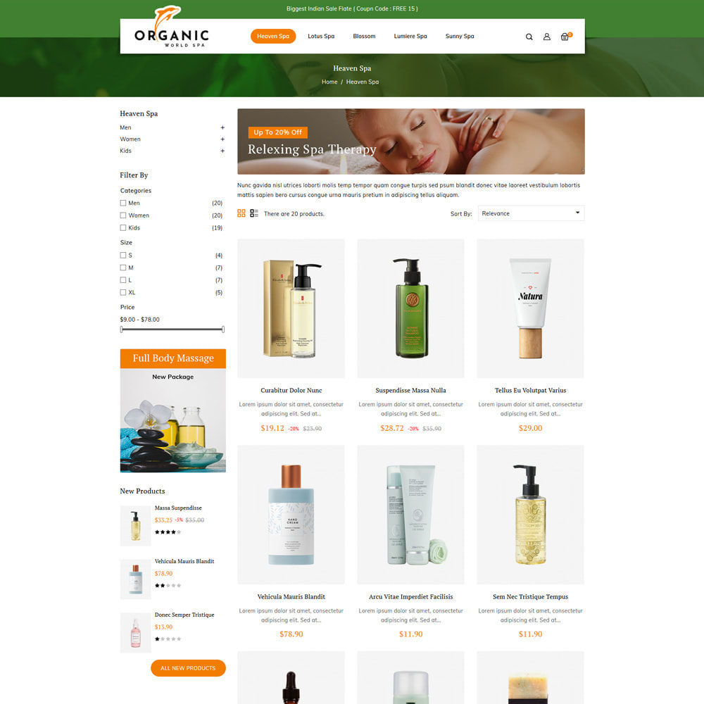 theme - Здоровье и красота - Organic World Spa & Beauty Store - 3