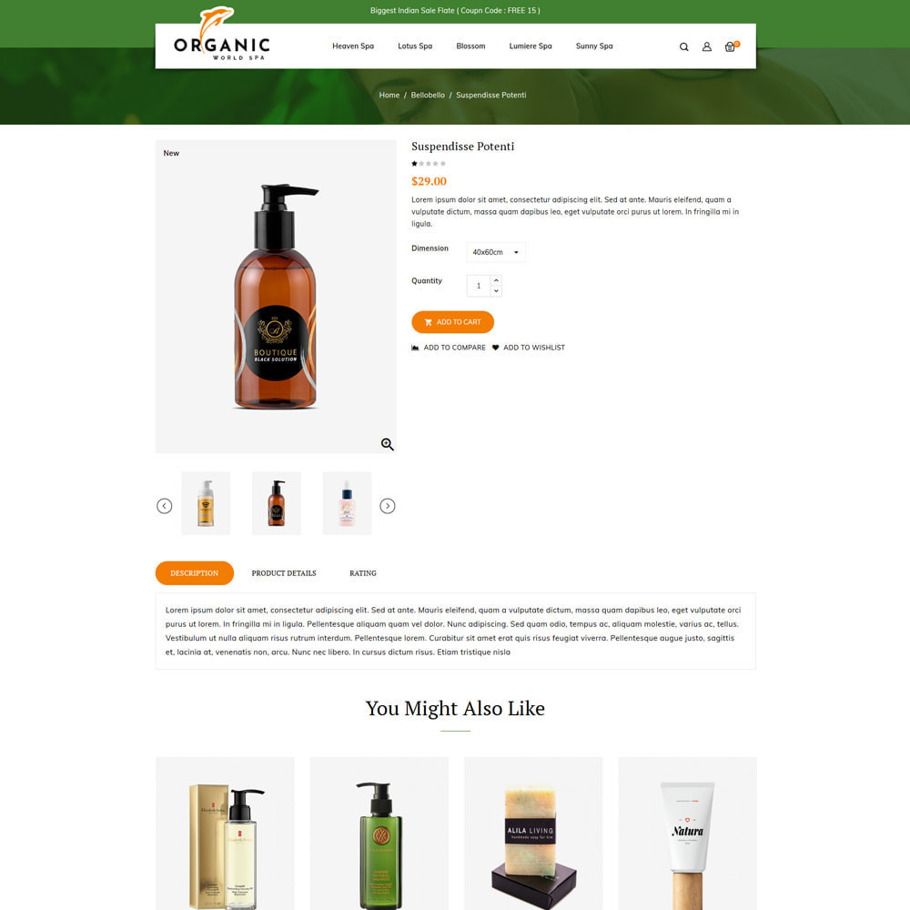 theme - Health & Beauty - Organic World Spa & Beauty Store - 4