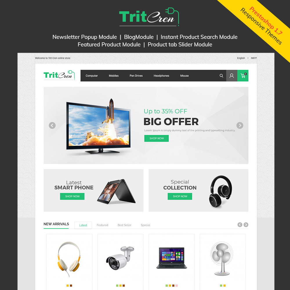 theme - Electrónica e High Tech - Computadora Portátil Electrónica - Tienda - 2
