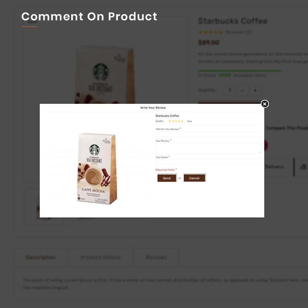 theme - Alimentation & Restauration - Coffee VIP Mega Coffee–Tea Nature–Beans Minimal Store - 12