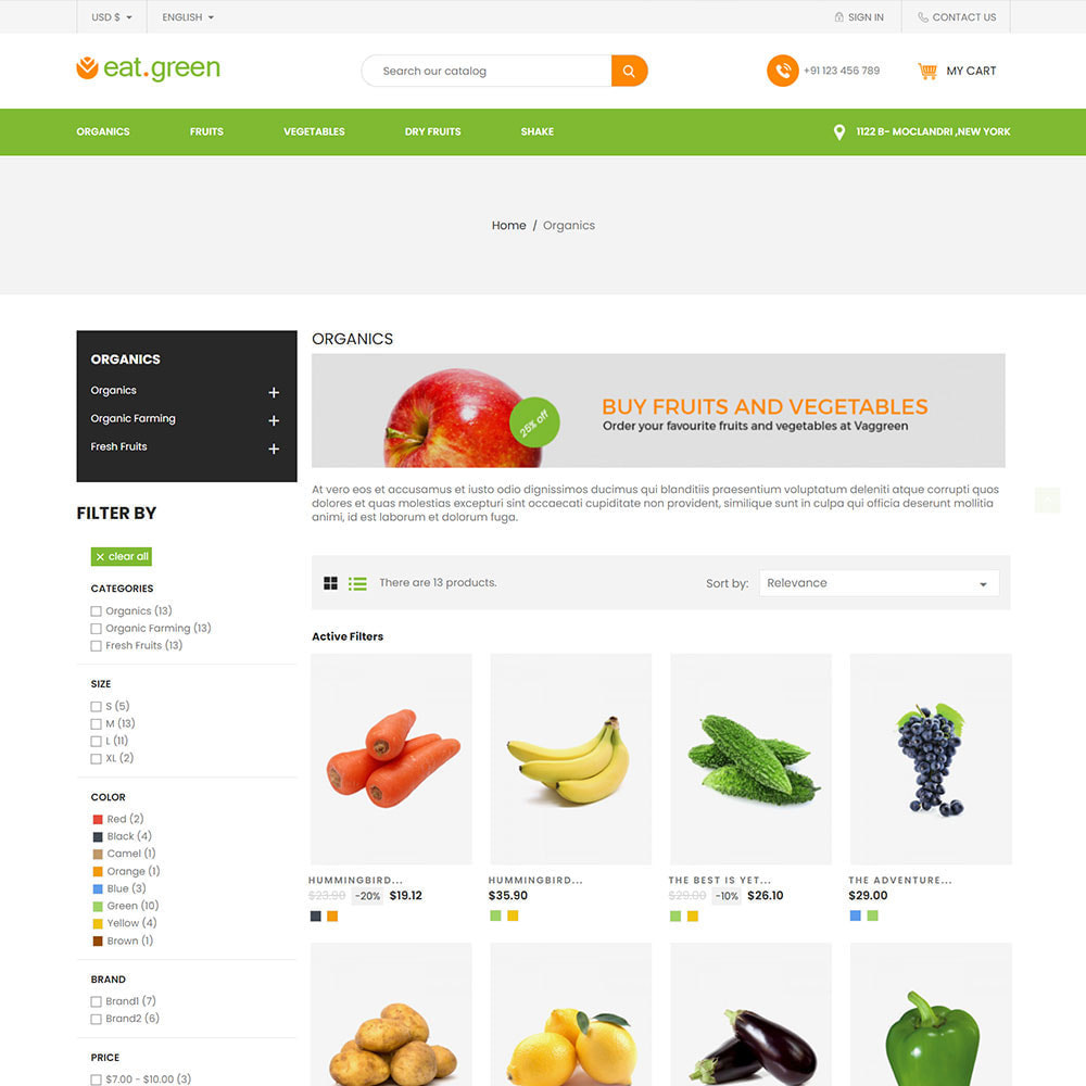 theme - Продовольствие и рестораны - Eat Green - Fruit Vegitable Organic Food Store - 3