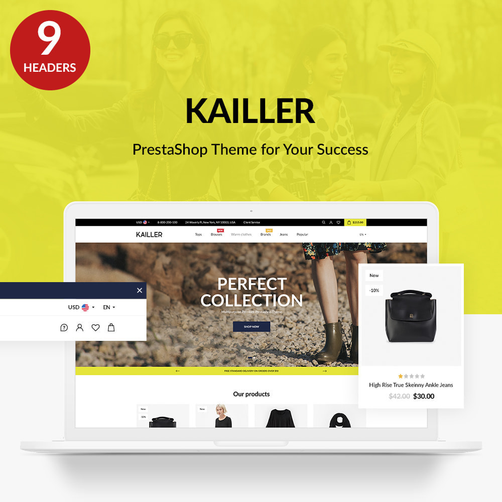 theme - Mode & Chaussures - Kailler Fashion Store - 1