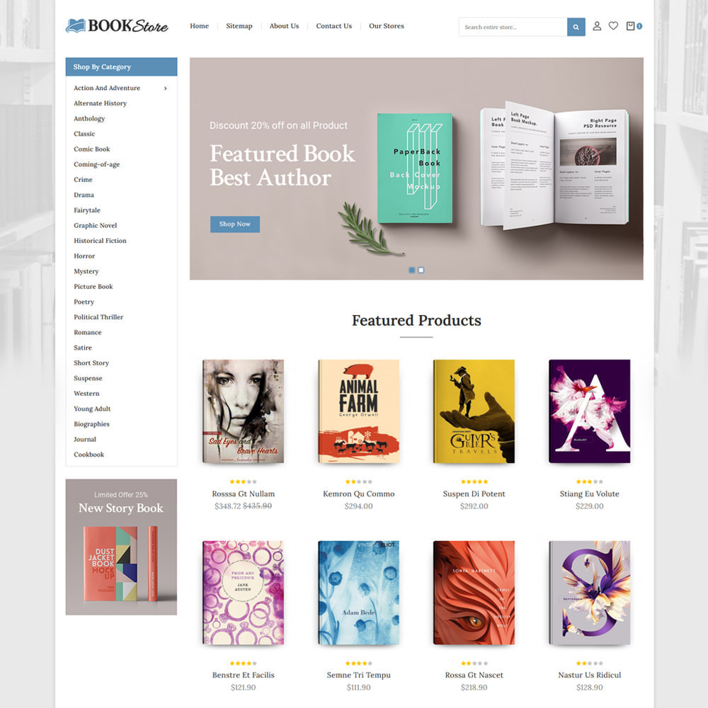 theme - Art & Culture - Books & Stationery Store - 2