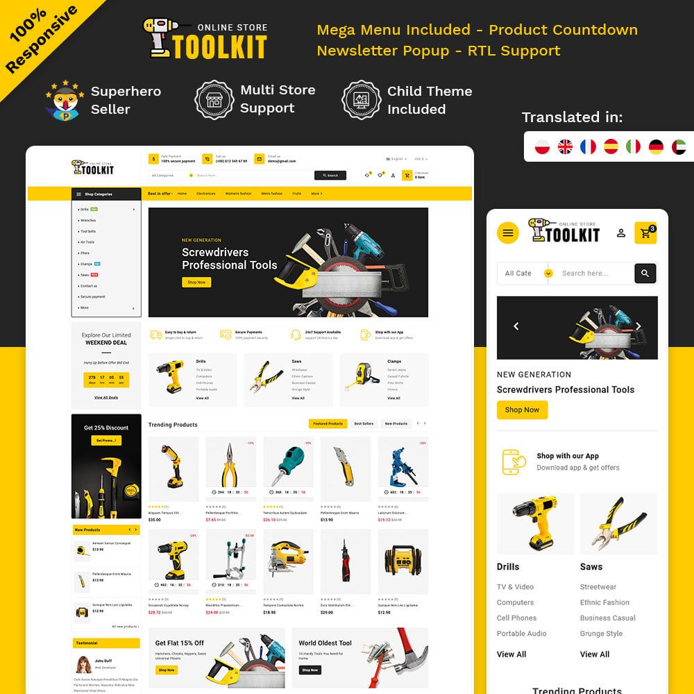 theme - Electronics & Computers - Toolkit - Mega Tools Store - 1