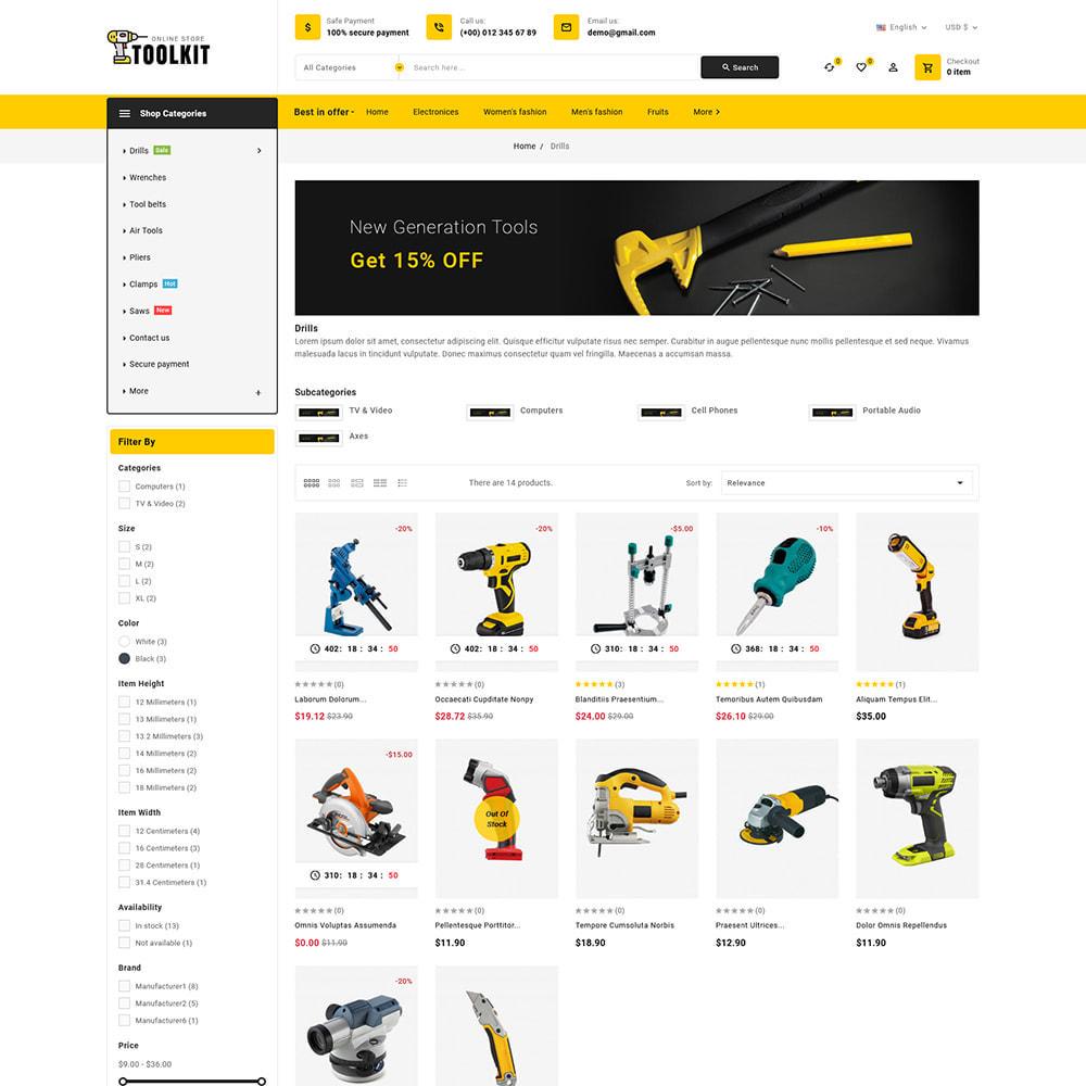 theme - Electronics & Computers - Toolkit - Mega Tools Store - 5