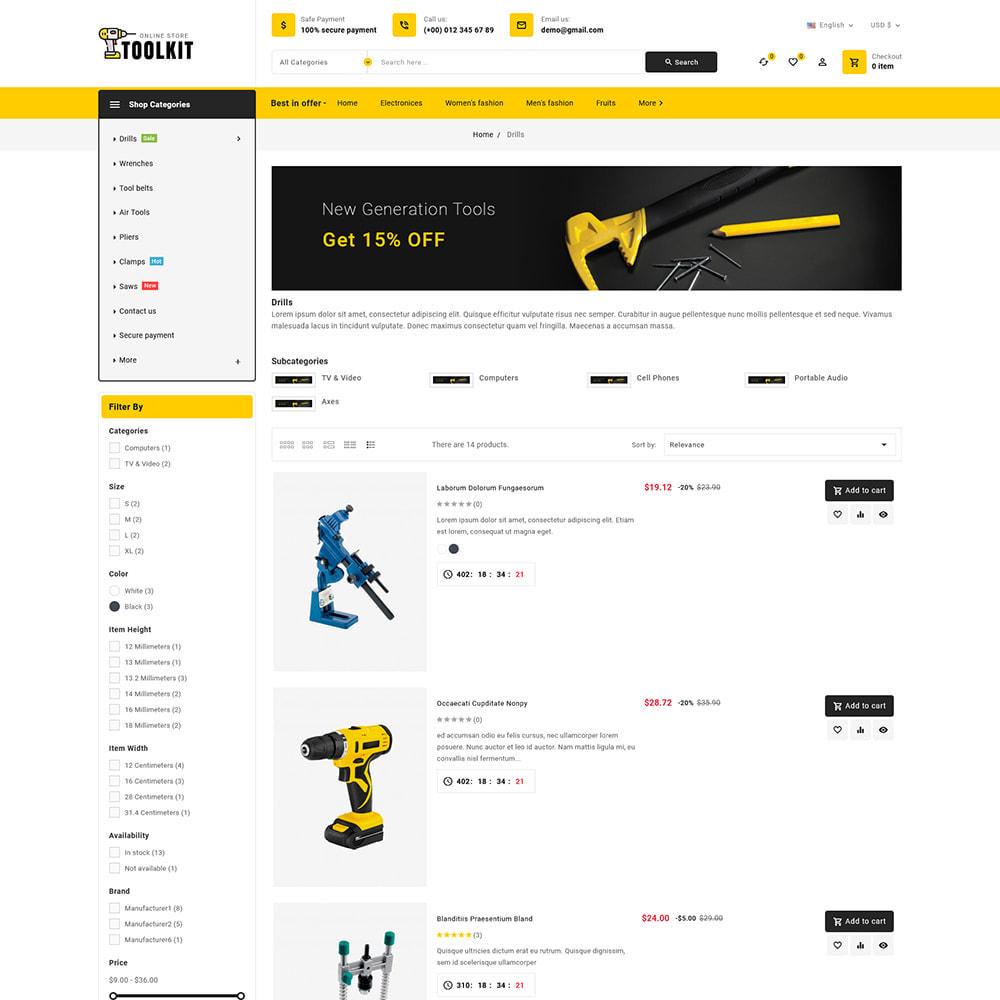 theme - Electronics & Computers - Toolkit - Mega Tools Store - 8