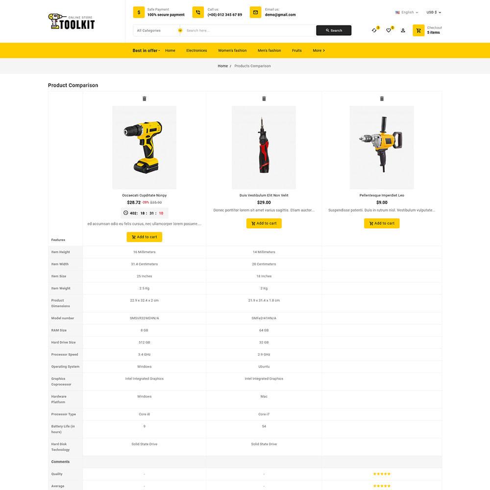 theme - Electronics & Computers - Toolkit - Mega Tools Store - 10