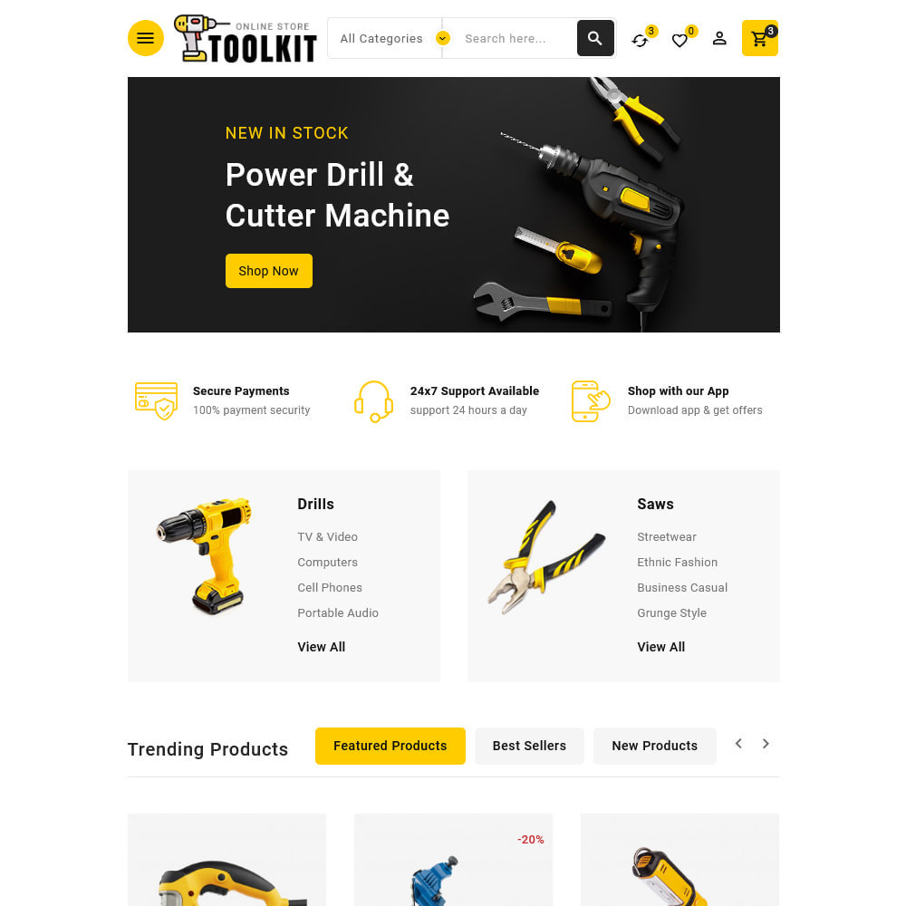 theme - Electronics & Computers - Toolkit - Mega Tools Store - 12