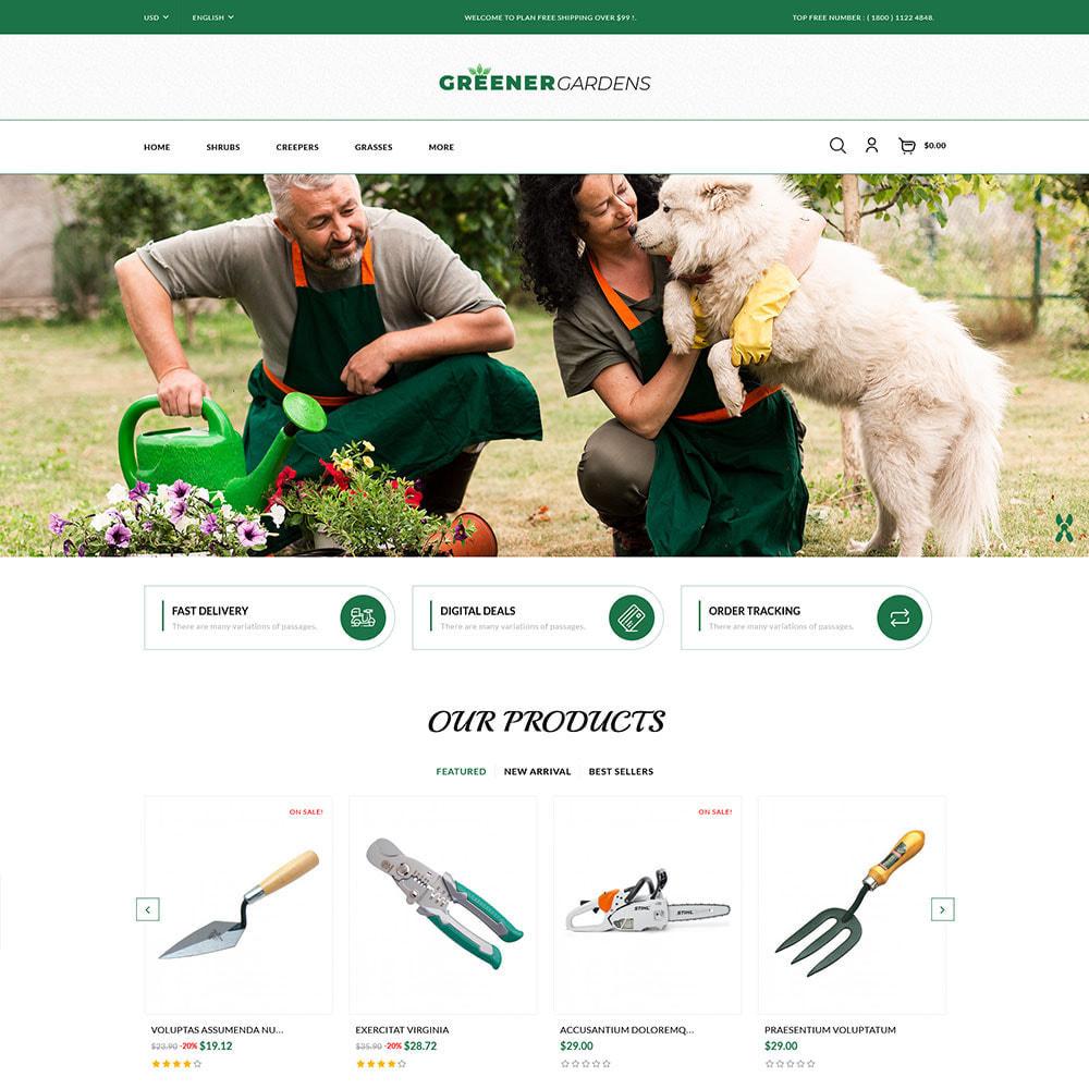 theme - Cadeaux, Fleurs et Fêtes - Greener Garden - Plant Store - 2