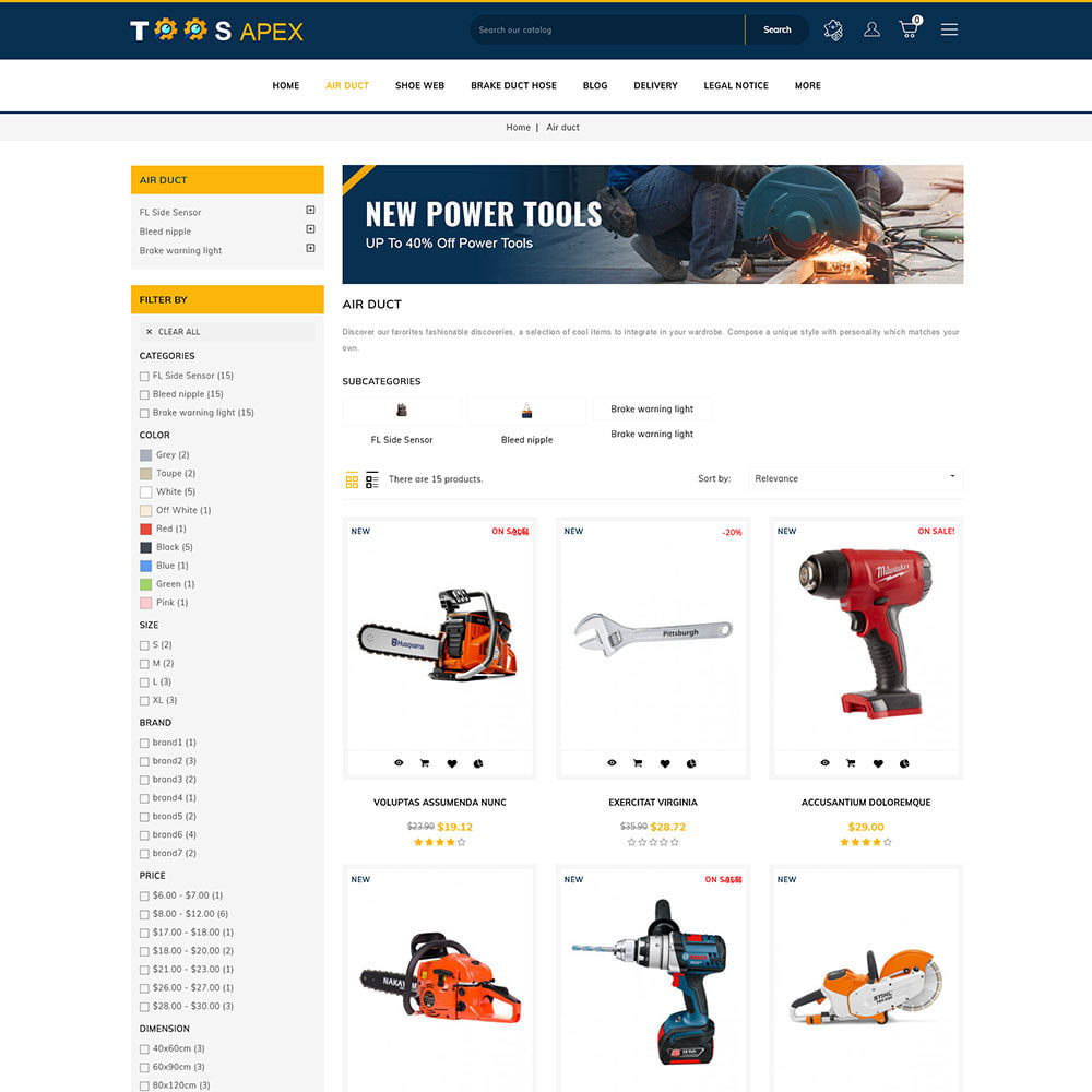 theme - Automotive & Cars - Toolsapex - Tools Store - 2