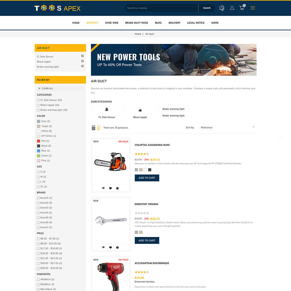 theme - Automotive & Cars - Toolsapex - Tools Store - 3