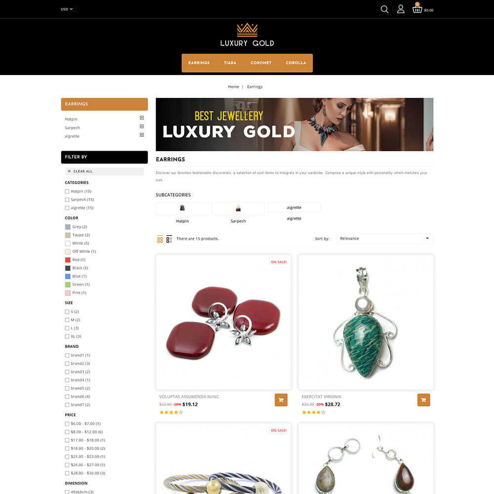 theme - Schmuck & Accesoires - Luxury gold - Jewellery Store - 3
