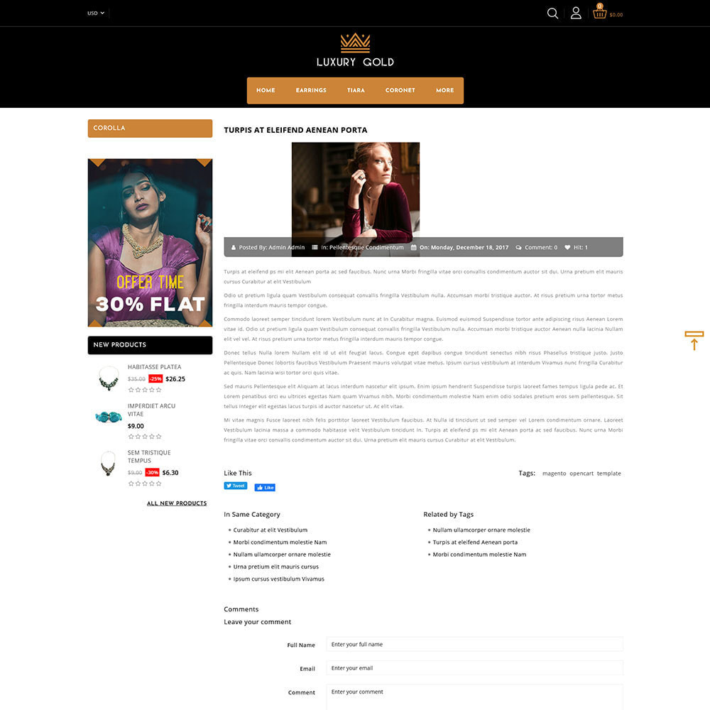 theme - Schmuck & Accesoires - Luxury gold - Jewellery Store - 7