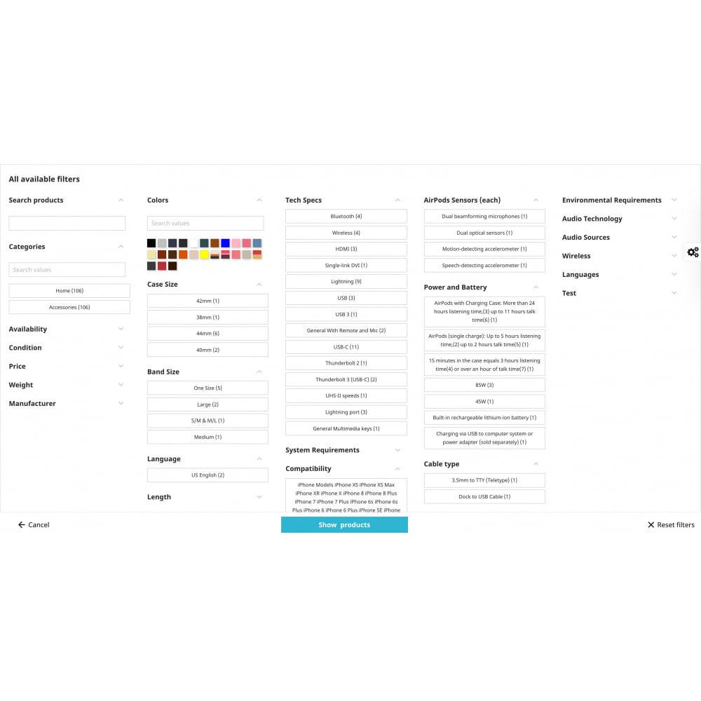 module - Ricerche & Filtri - Ricerca avanzata Filter Pro - 4