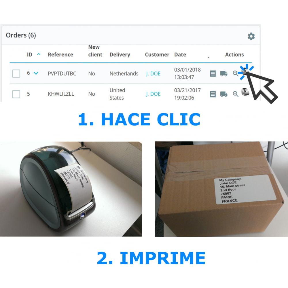 module - Preparación y Envíos - Etiquetas de dirección / pedido - DirectLabelPrint - 1