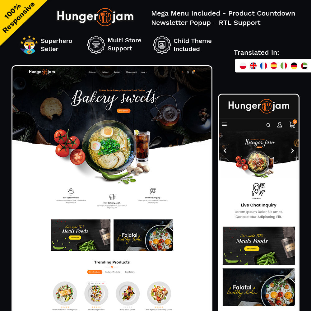 theme - Food & Restaurant - Hunger Jam - Food & Dishes - 1