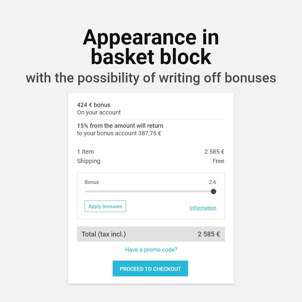 module - Empfehlungs- & Kundenbindungsprogramme - Bonus cashback sustem - 2