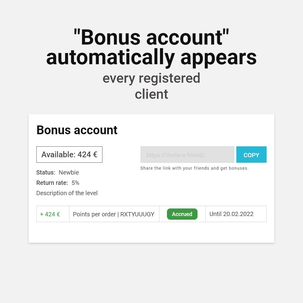 module - Empfehlungs- & Kundenbindungsprogramme - Bonus cashback sustem - 4
