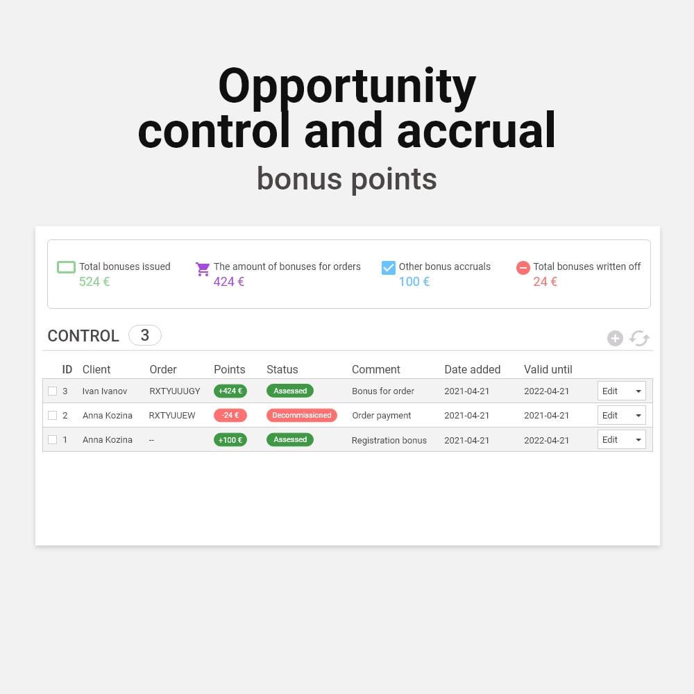 module - Empfehlungs- & Kundenbindungsprogramme - Bonus cashback sustem - 7
