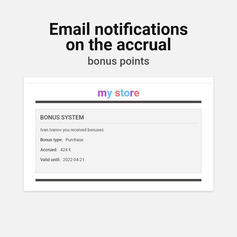module - Empfehlungs- & Kundenbindungsprogramme - Bonus cashback sustem - 8