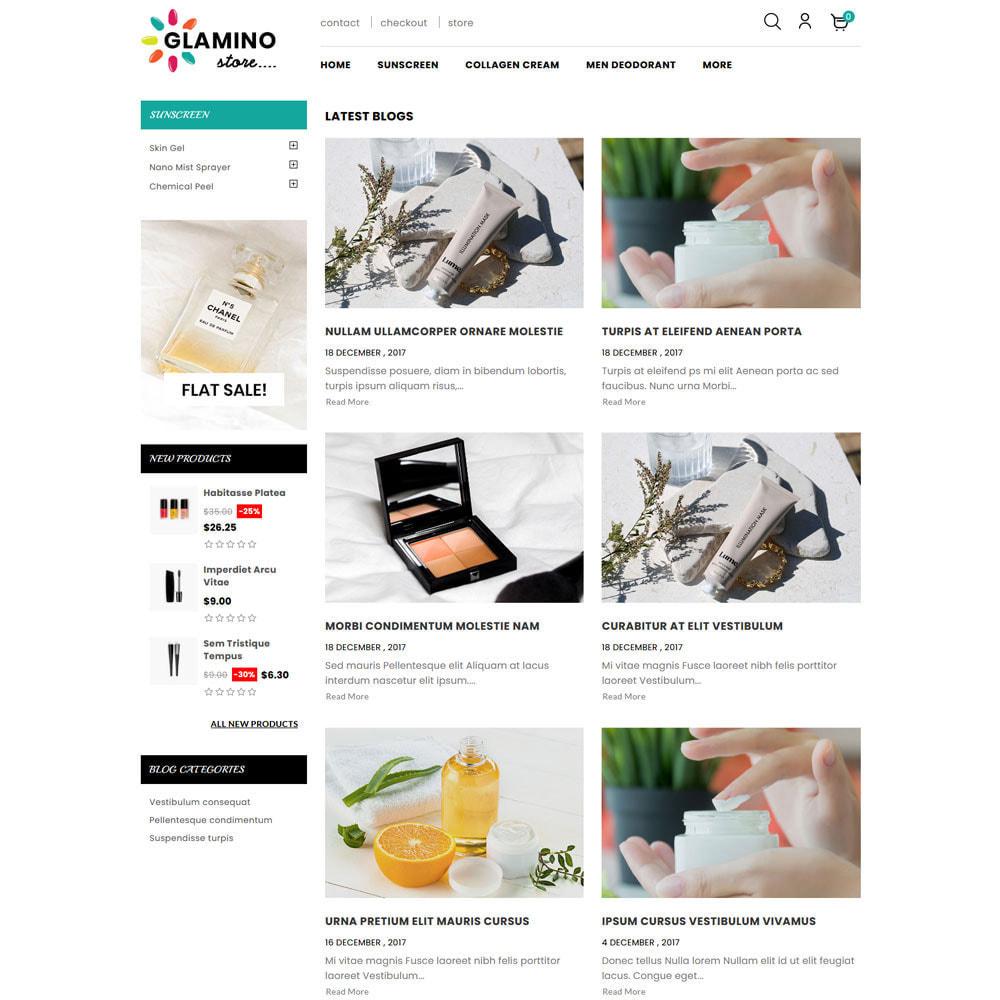 theme - Salute & Bellezza - Glamino - Cosmetic Store - 3