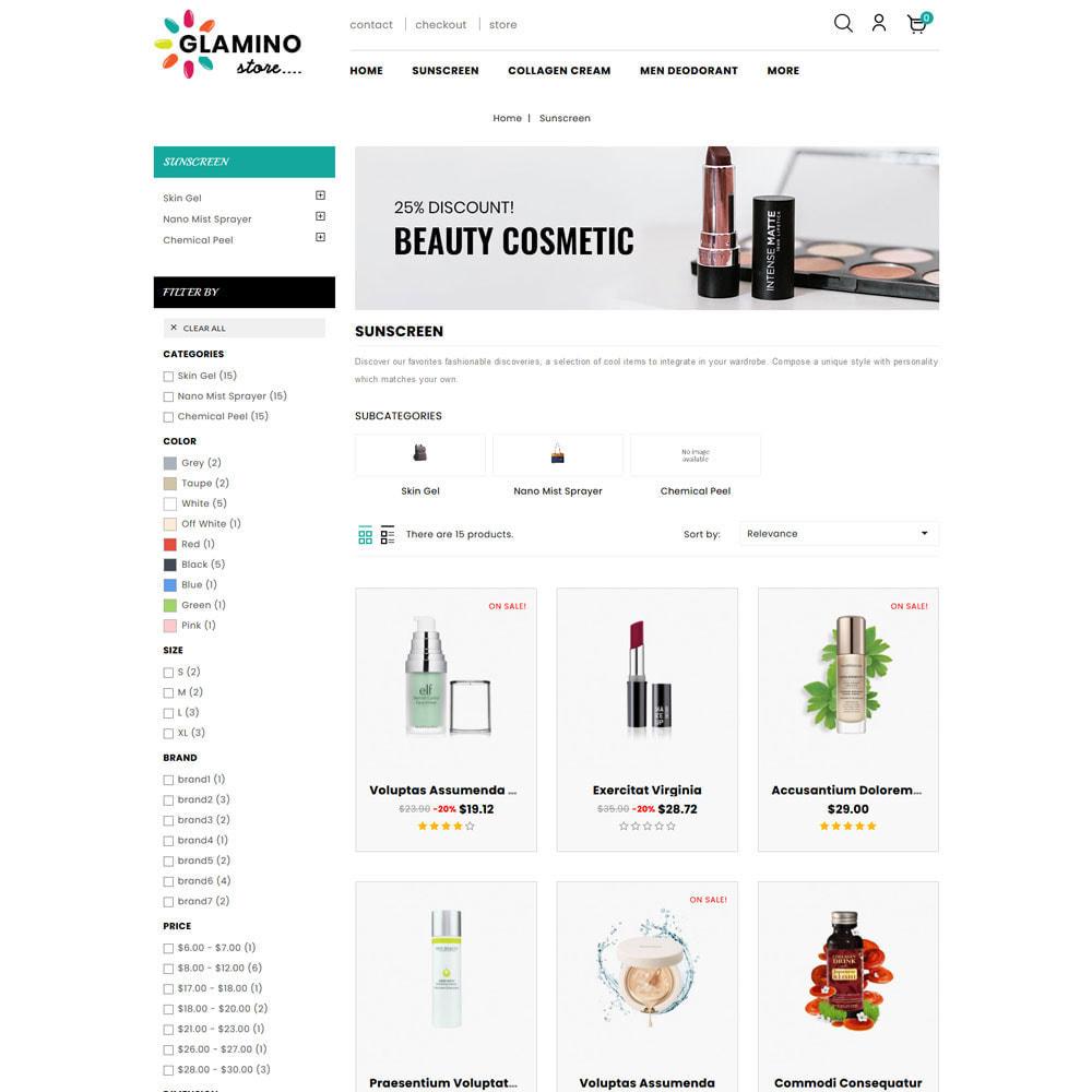 theme - Salute & Bellezza - Glamino - Cosmetic Store - 4
