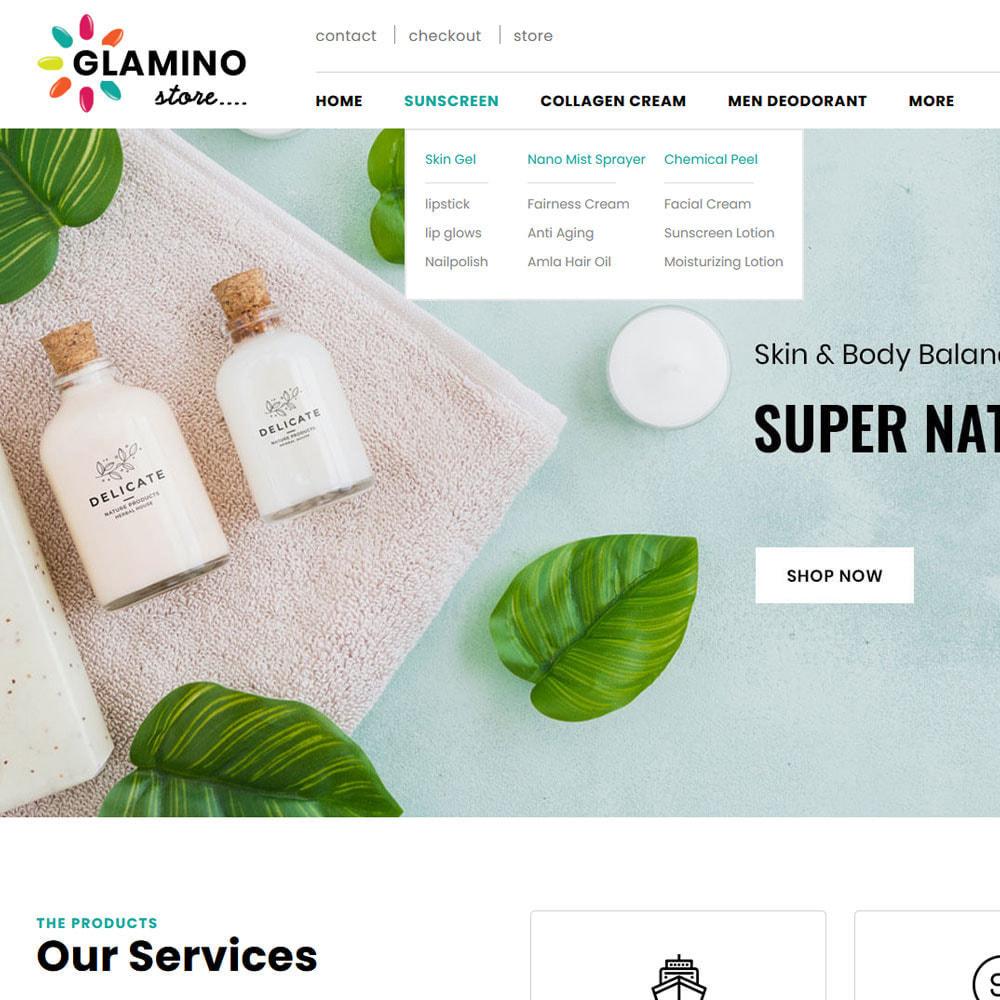 theme - Salute & Bellezza - Glamino - Cosmetic Store - 7