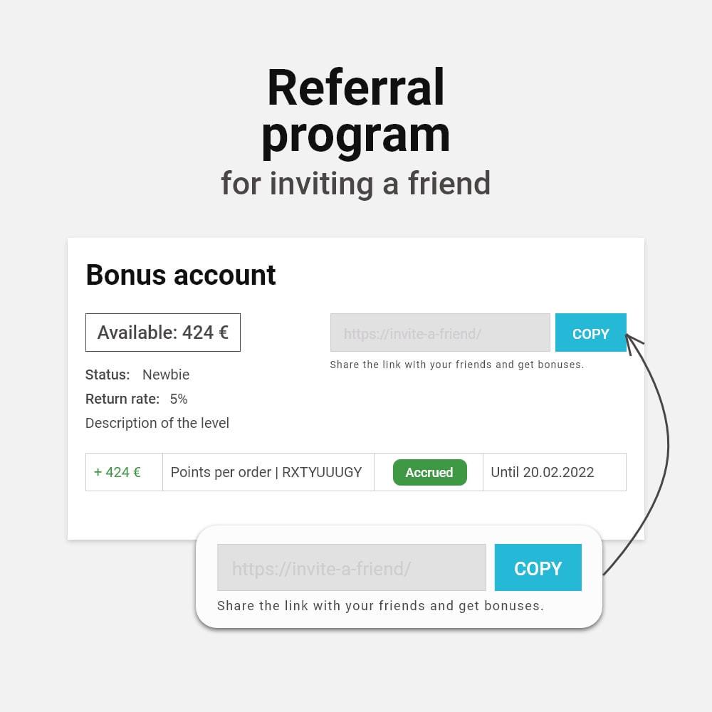module - Empfehlungs- & Kundenbindungsprogramme - Bonus cashback sustem - 12