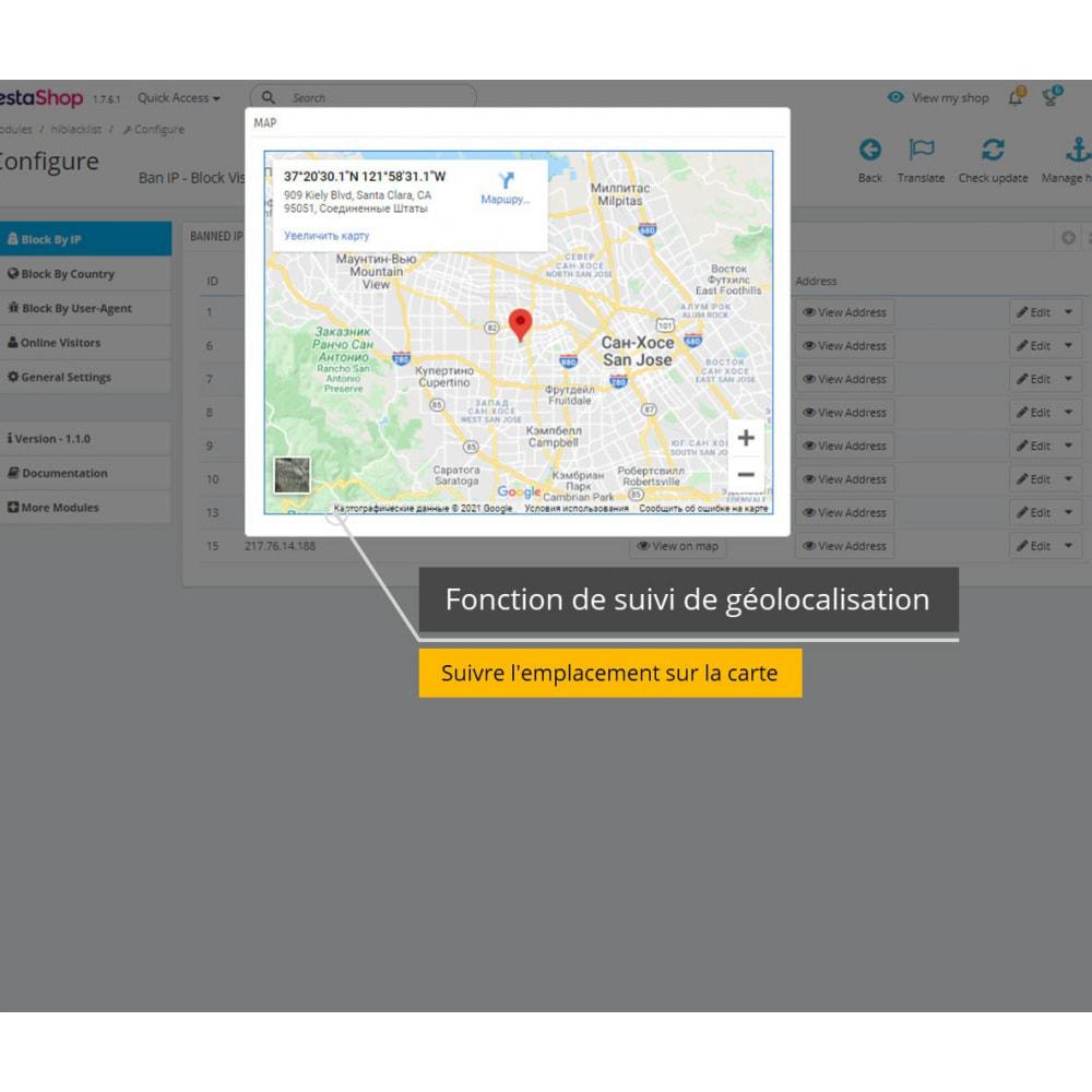 module - Sécurité & Accès - Interdire IP et Afficher Localisation / Adresse - 2
