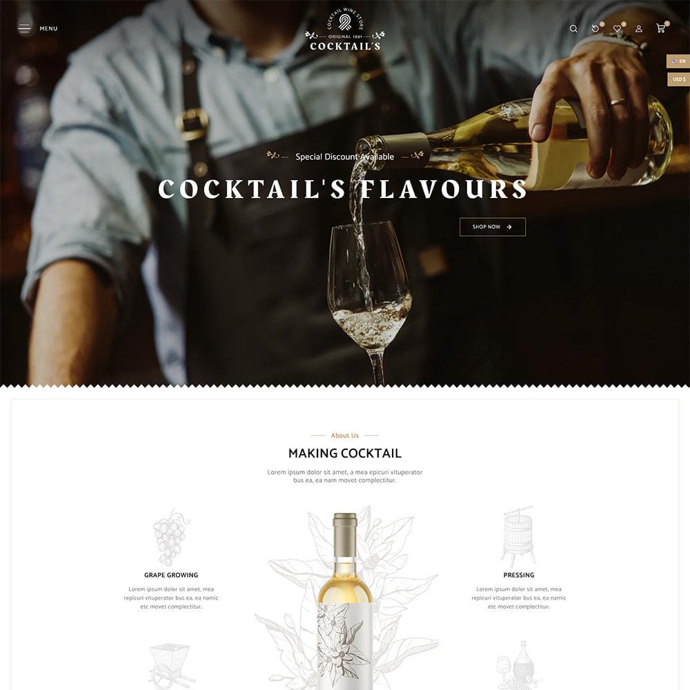 theme - Bebidas y Tabaco - Cocktail - Wine – Alcohol Cigarettes Drink Store - 2
