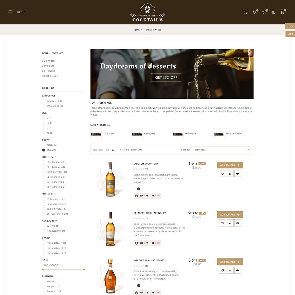 theme - Bebidas y Tabaco - Cocktail - Wine – Alcohol Cigarettes Drink Store - 7