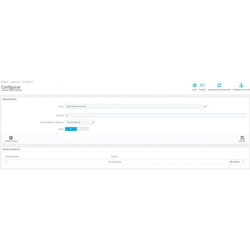 module - Ventas cruzadas y Packs de productos - Asesor de productos - 4