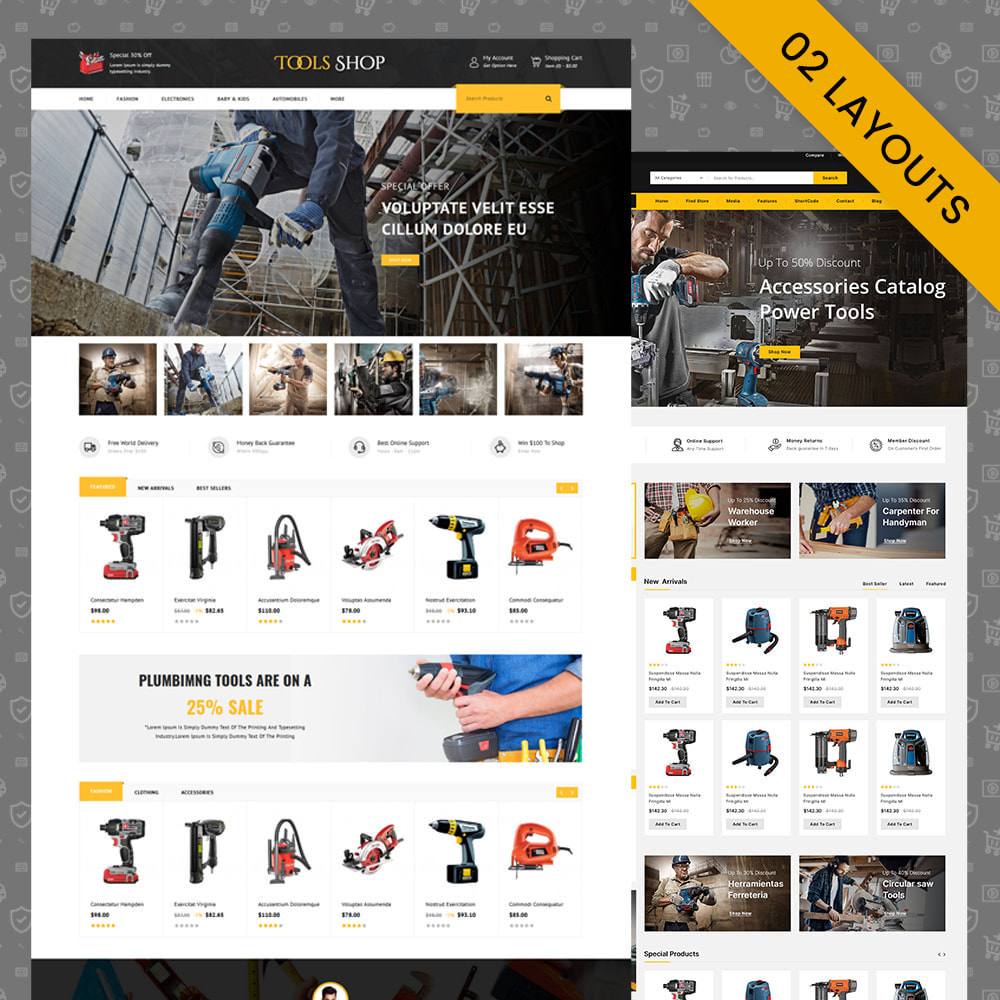 theme - Auto & Moto - Tools Shop - Best Tools Store - 1