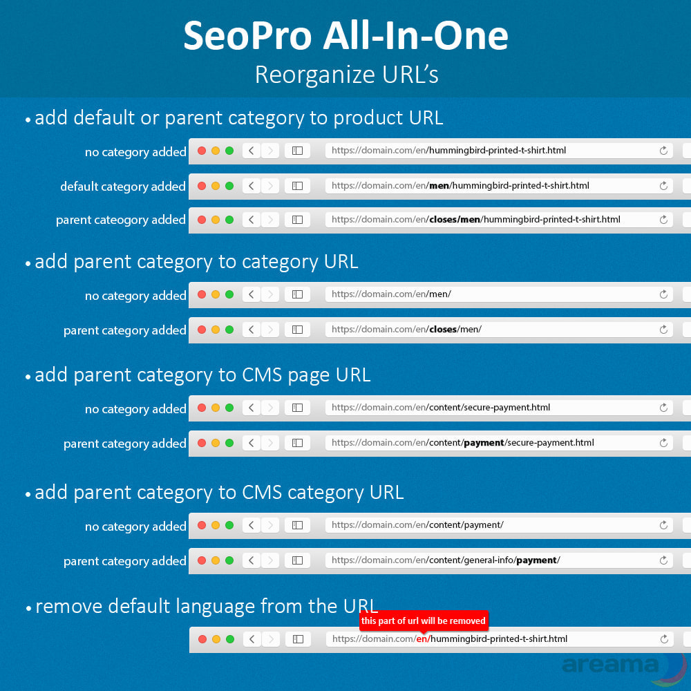 module - SEO (Referenciamento natural) - SEO Pro All-In-One. URL cleaner, redirects, sitemaps... - 4