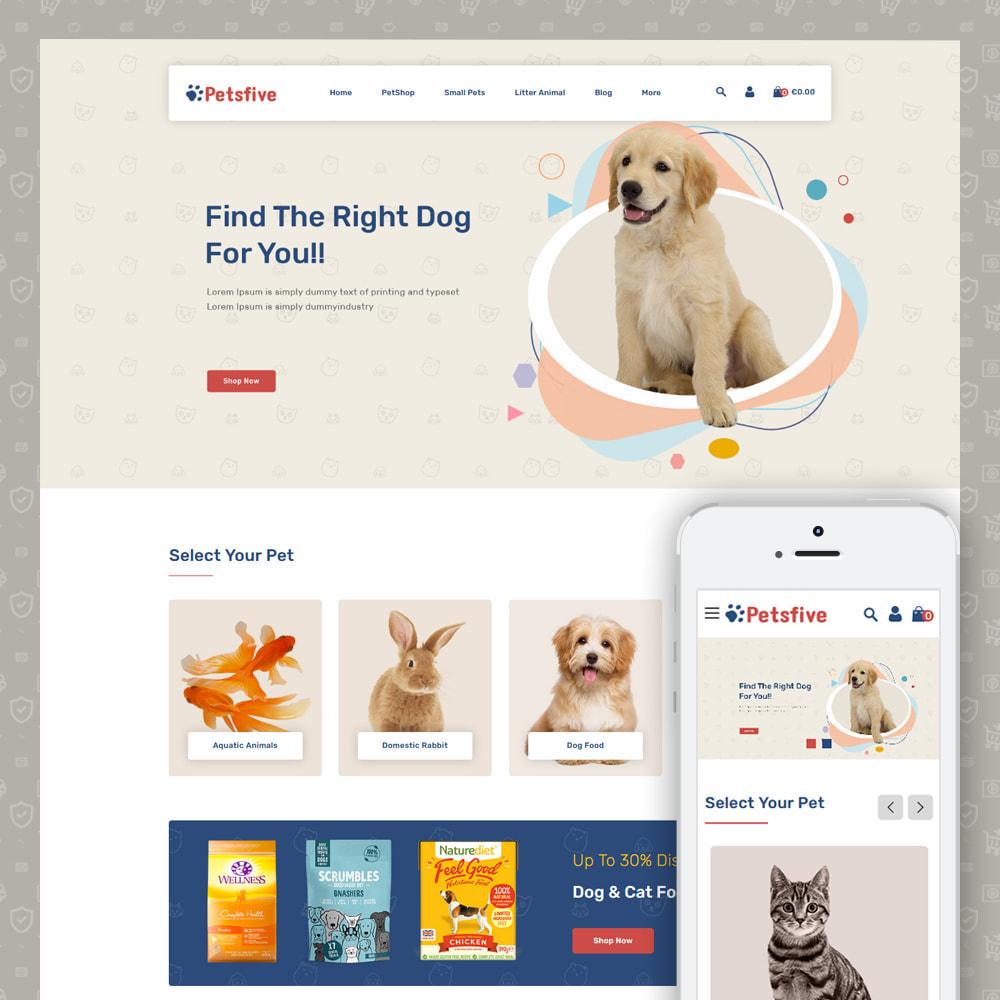 theme - Animals & Pets - Petsfive - Pet & Animal Store - 1
