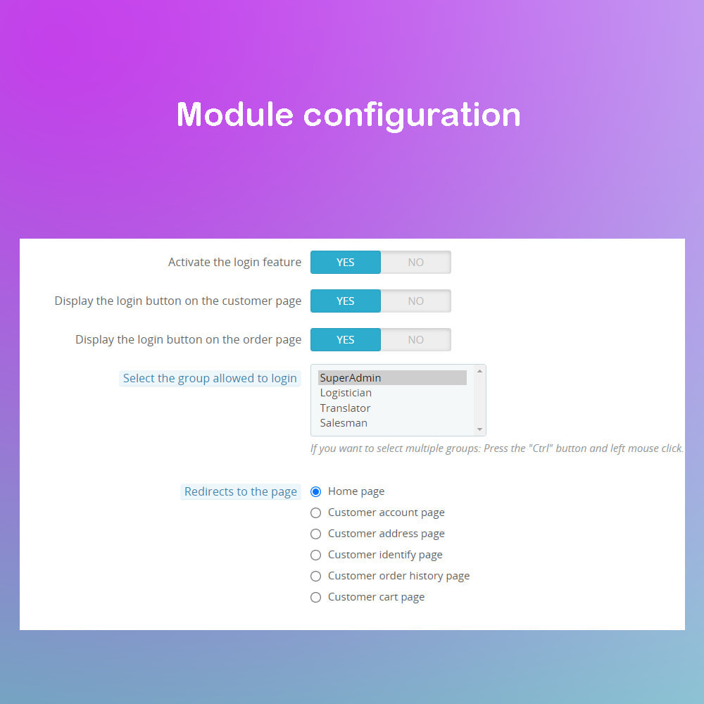 module - Social Login & Connect - Access customer accounts with 1 tap - 1