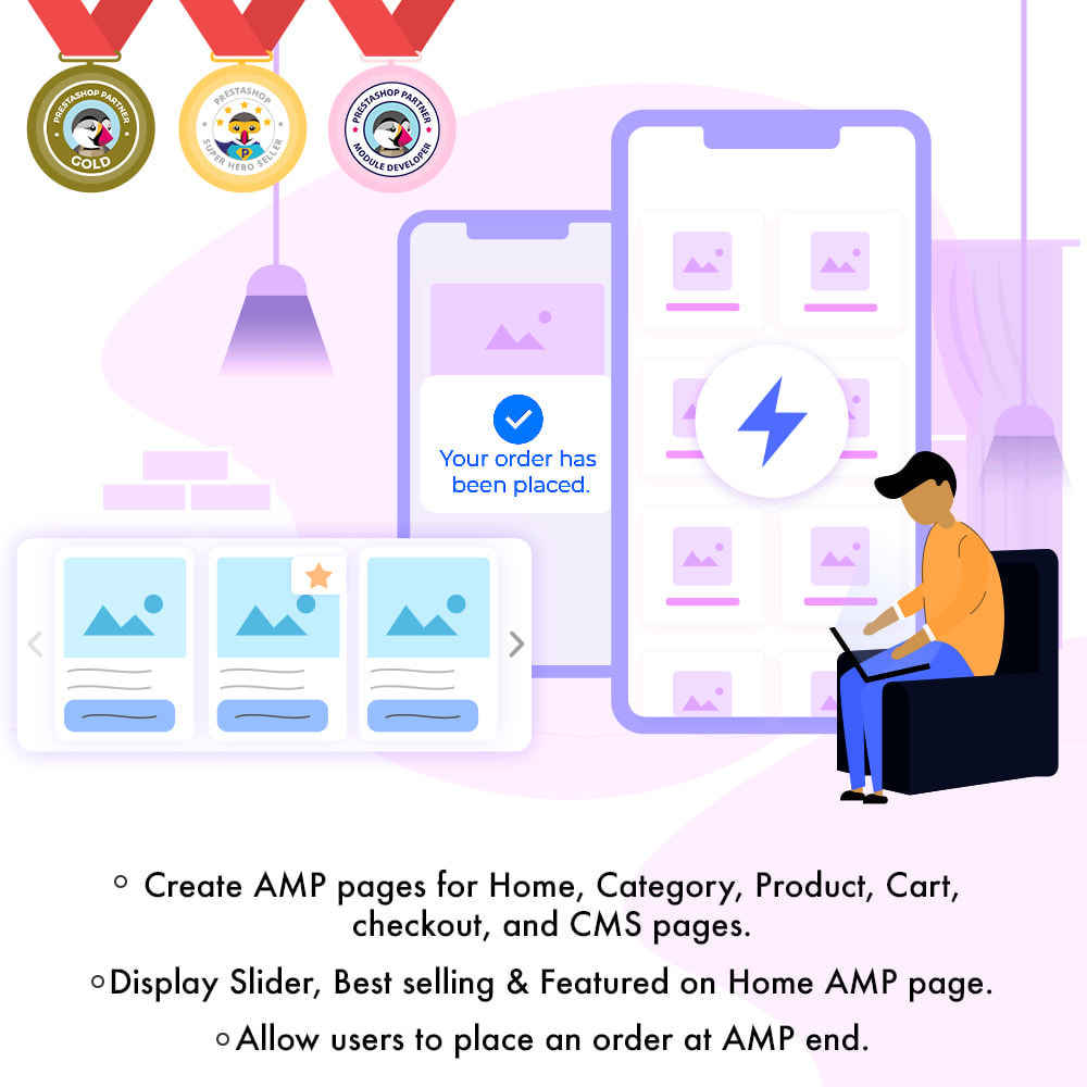 module - Мобильный телефон - AMP - Accelerated Mobile Pages (With Checkout) - 1