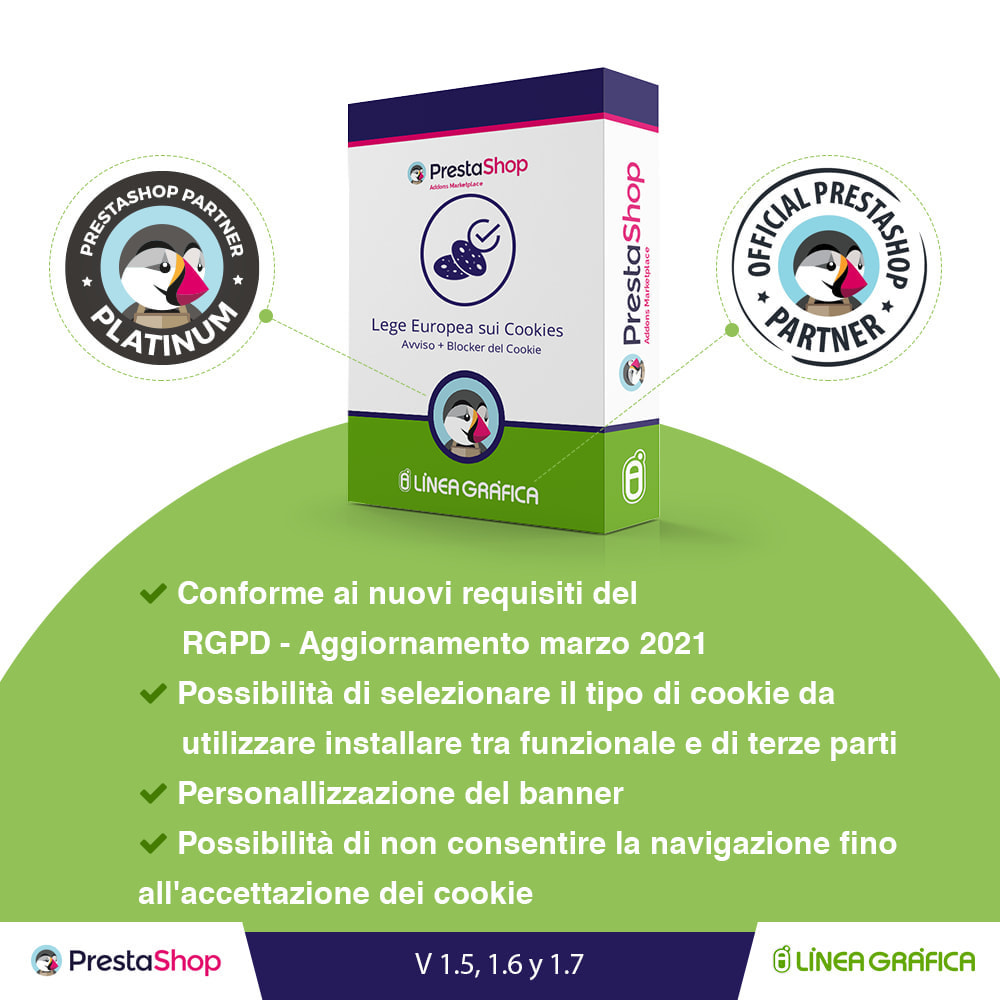 module - Legale (Legge Europea) - Legge Cookies RGPD (Avviso + Blocker) - Upgrade 2021 - 1