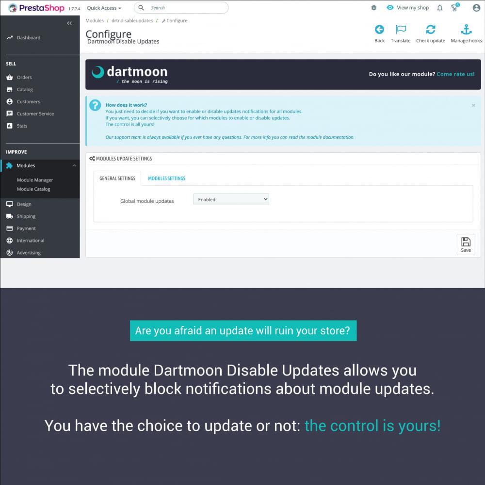 module - Fast & Mass Update - Dartmoon Disable Updates - 2