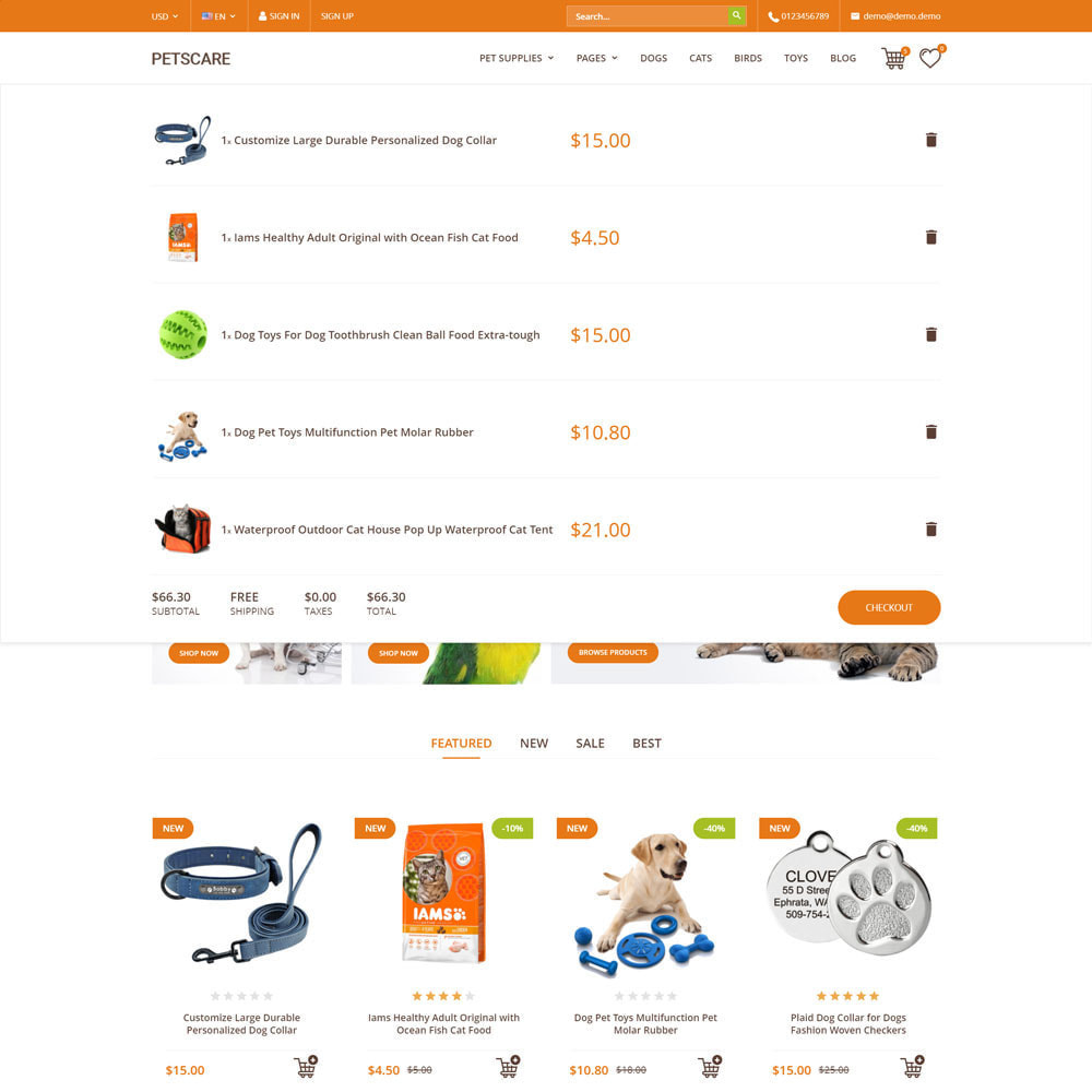 theme - Animaux - PetsCare - Magasin d'animaux - 9