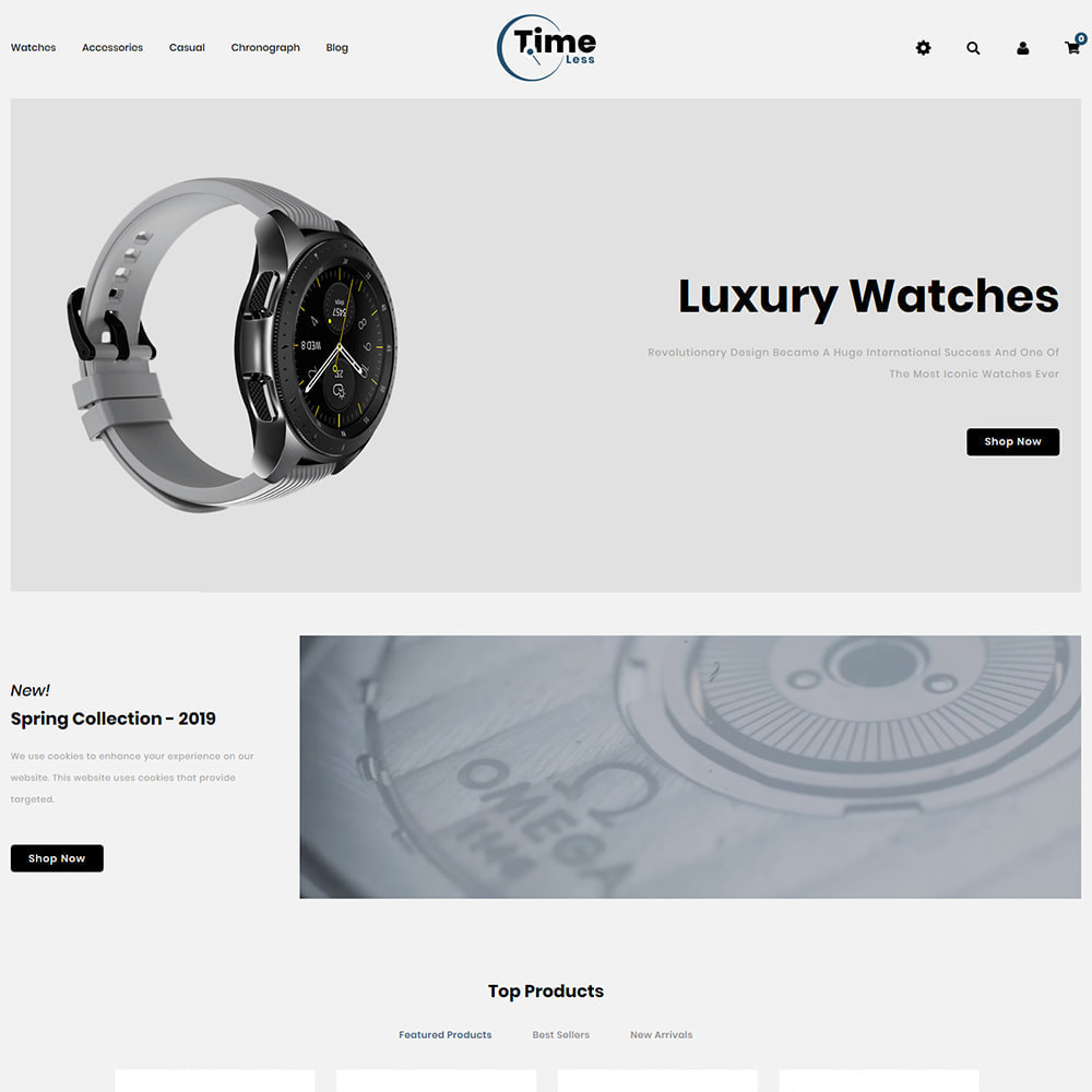 theme - Jewelry & Accessories - Timeless - Watch Store - 2