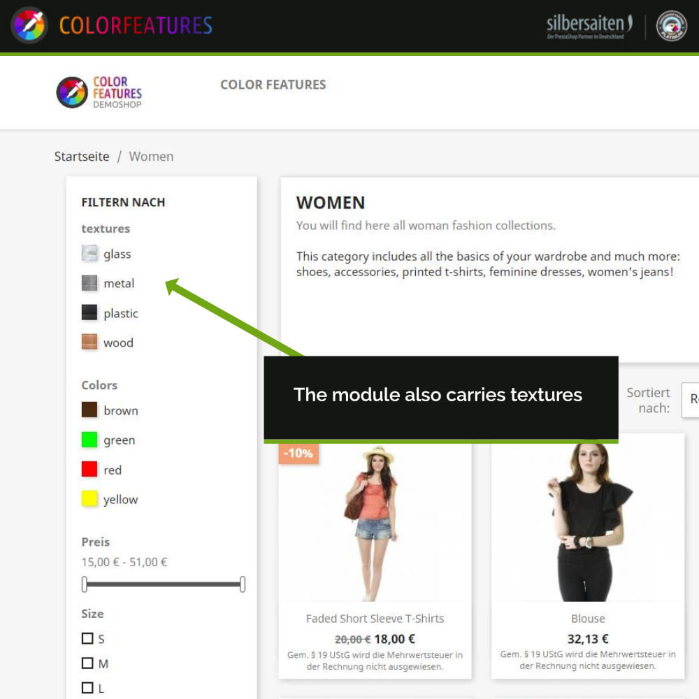 module - Search & Filters - Features - extended by colors - 3