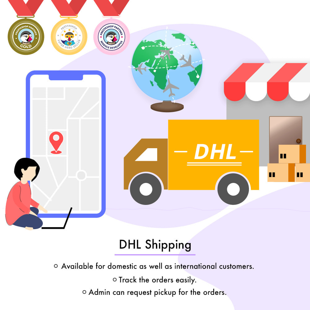 module - Shipping Carriers - DHL Shipping with Label Print | API Based Shipping - 1