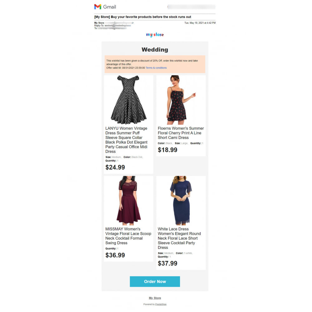 module - Wishlist & Gift Card - Advanced Multi Wishlist with Discounts and Notification - 12