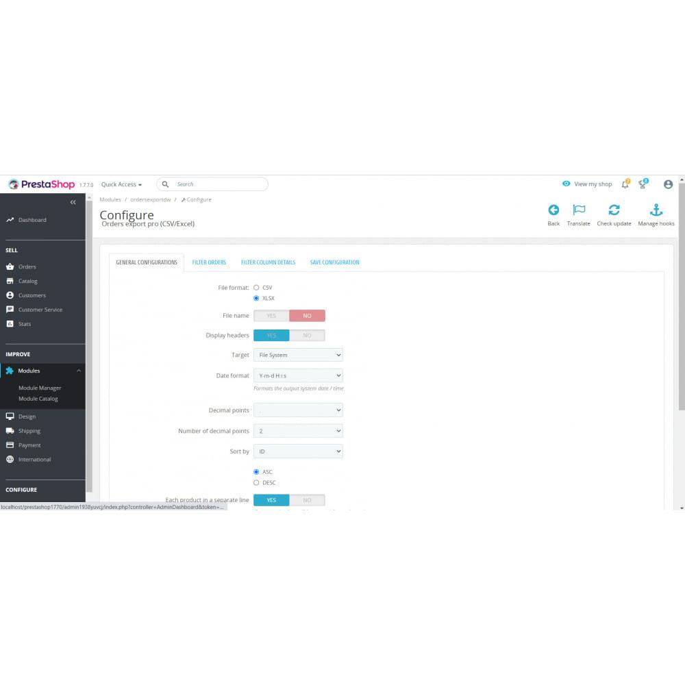 module - Importación y Exportación de datos - Orders Export Pro (Excel,CSV) - 1