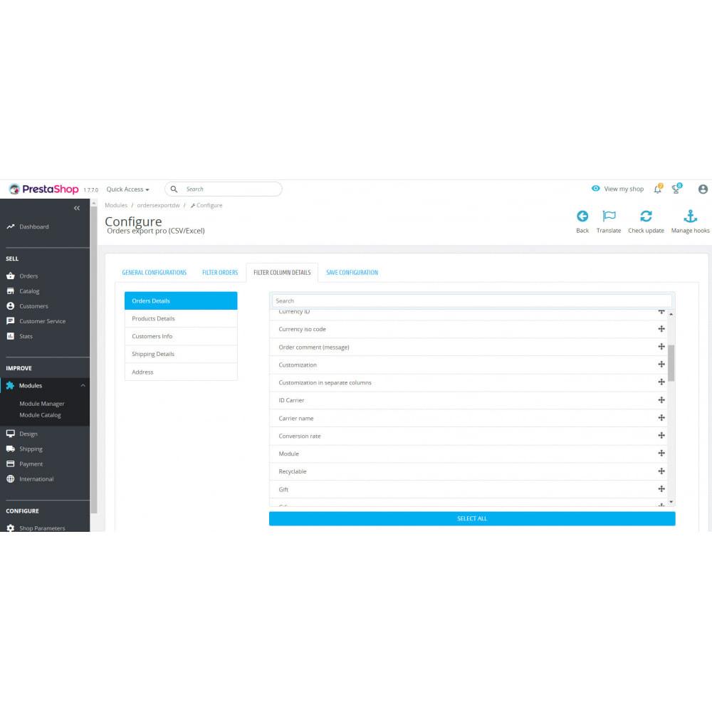 module - Importación y Exportación de datos - Orders Export Pro (Excel,CSV) - 4