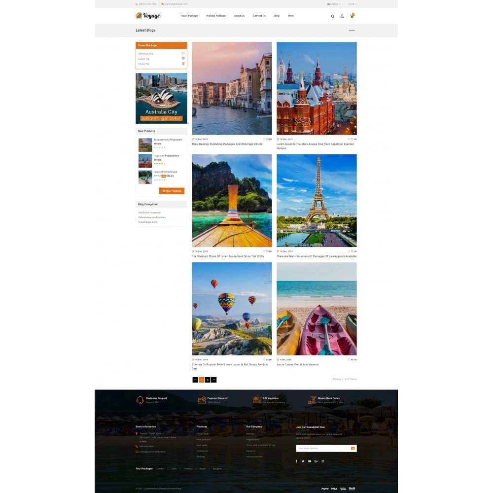 theme - Sports, Activities & Travel - Voyage - Travels Store - 9