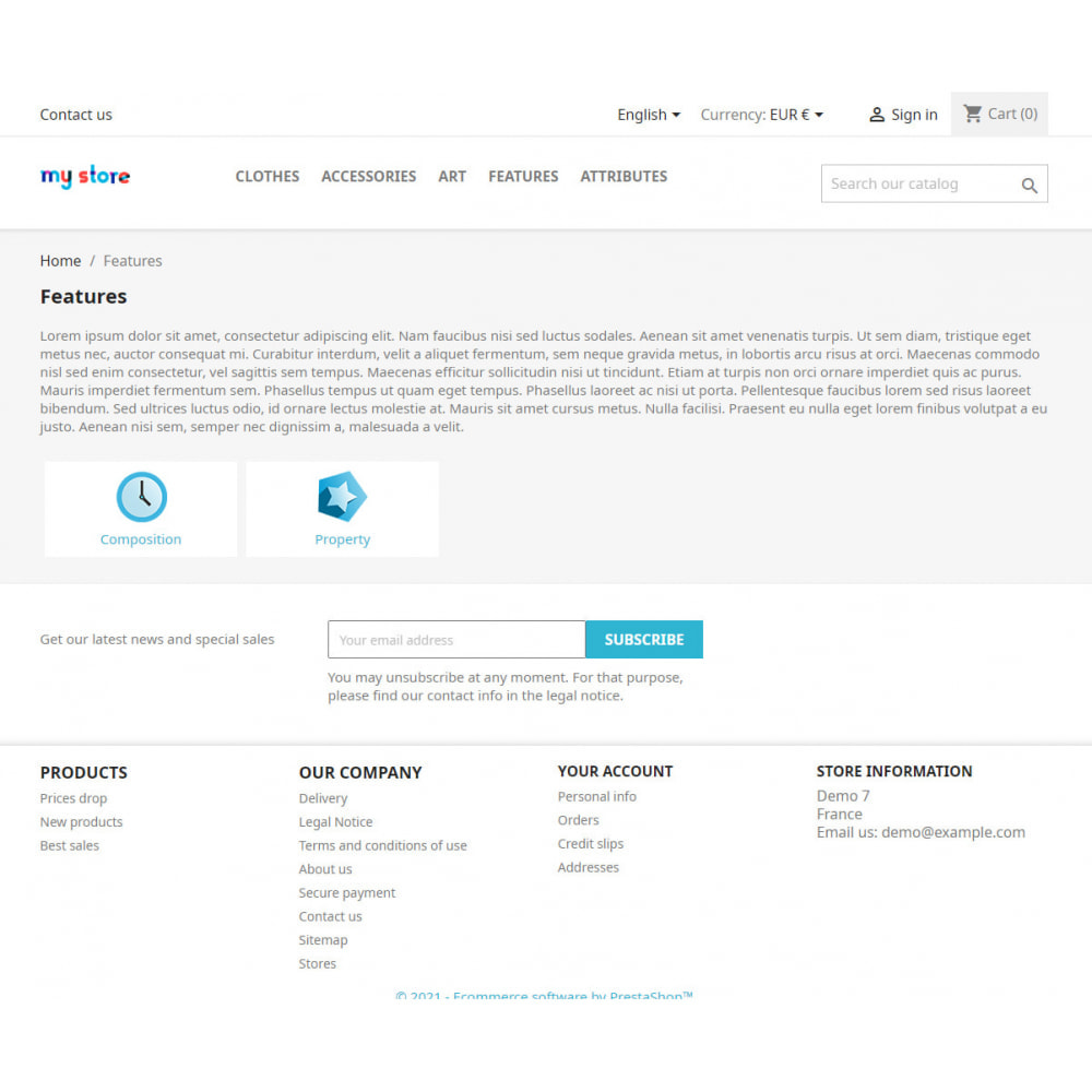 module - SEO - SEO pages of product features and attributes - 1