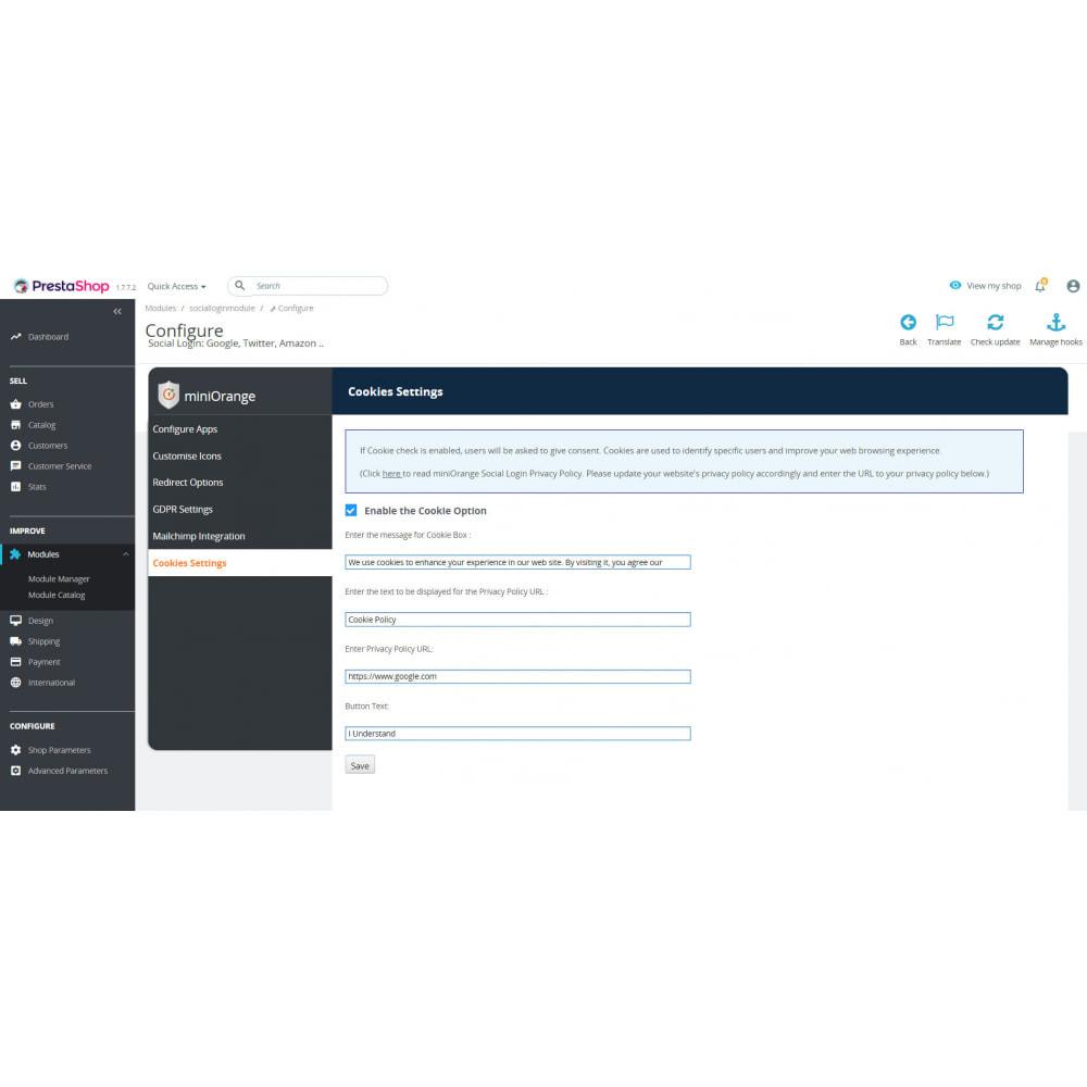module - Social Login & Connect - Social Login & Connect, Register via +20 Apps,Mailchimp - 5